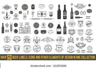 Over 50 beer labels, icons and other elements of design in one collection.