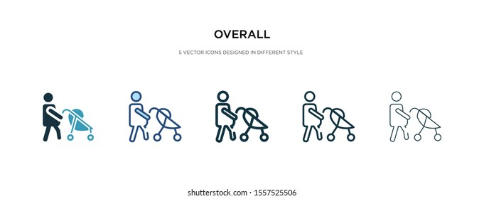 overall icon in different style vector illustration. two colored and black overall vector icons designed in filled, outline, line and stroke style can be used for web, mobile, ui