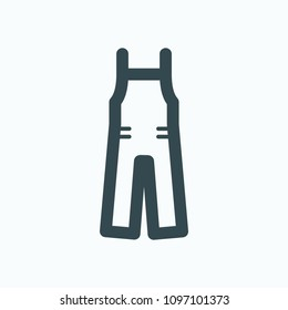 Overalls, work clothes icon, work wear vector icon