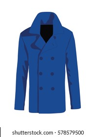 Overcoat men fashion vector blue