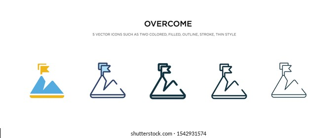overcome icon in different style vector illustration. two colored and black overcome vector icons designed in filled, outline, line and stroke style can be used for web, mobile, ui