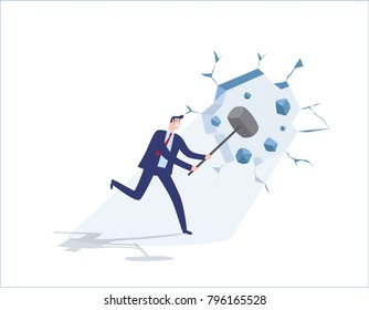 Overcome obstacles business people concept 