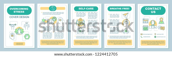 Overcoming Stress Brochure Template Layout Mental Stock