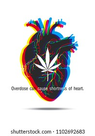 Overdose can cause shortness of heart