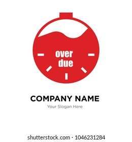 overdue company logo design template, Business corporate vector icon, overdue logo concept