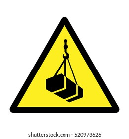 Overhead load warning sign.