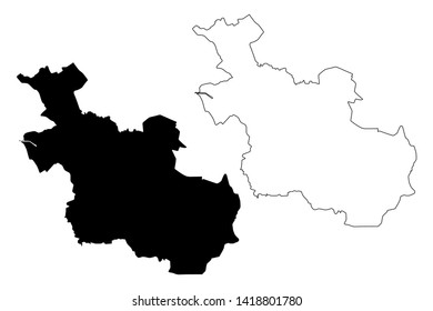 Overijssel province (Kingdom of the Netherlands, Holland) map vector illustration, scribble sketch Overijssel map