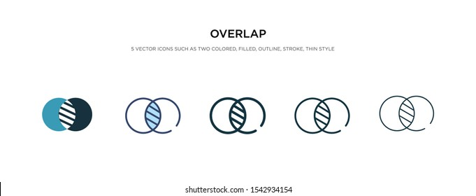 overlap icon in different style vector illustration. two colored and black overlap vector icons designed in filled, outline, line and stroke style can be used for web, mobile, ui