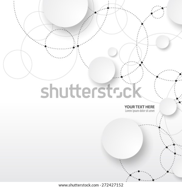 クリーンなデザイン背景に重なり合う円