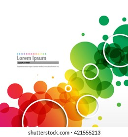 Overlapping Colorful Circles Layout/Design Cover Background