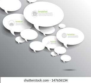 Overlapping Elements Background Speech Bubbles