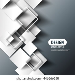 Overlapping Squares Layout/Design Cover Background
