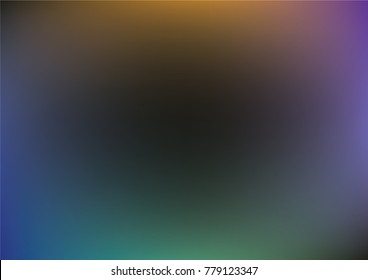 Overlay Holographic Neon Vector Background. Iridescent Gradient Funky Cool Music Cover, Poster Texture. Dark Contrast Teal Texture, Abstract Lights, Paper. Gradient Gloomy Background.