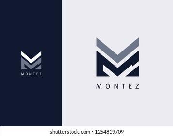Overlay Letter M Logo Design Template
