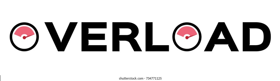 overload icon vector