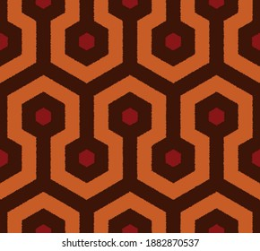The Overlook Hotel carpet. The Shining. Vector seamless pattern.