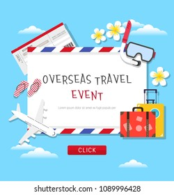 Overseas Travel Event Page Design