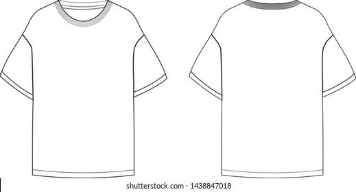 Oversized T shirt vector .eps