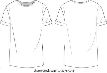Oversized t-shirt vector illustrator .eps