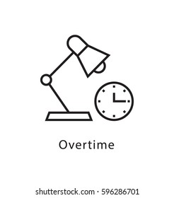 Overtime Vector Line Icon