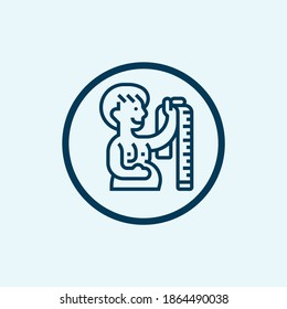 Overweight man scales icon. Outline overweight man scales vector icon for web design isolated on white background