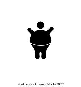 Overweight man vector icon