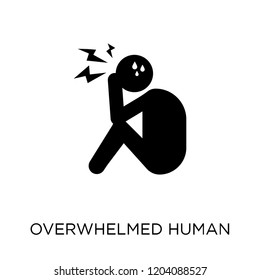 overwhelmed human icon. overwhelmed human symbol design from Feelings collection. Simple element vector illustration on white background.