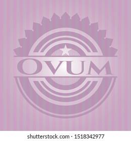 Ovum vintage pink emblem. Vector Illustration. Detailed.