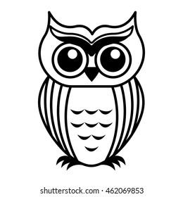 owl bird cute icon vector illustration design