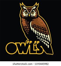 owl bird mascot