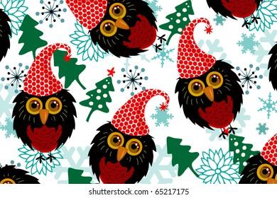 owl and christmas