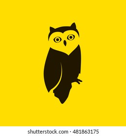 Owl clipart. Owl vector. Also useful as logo, web UI element, symbol, graphic image, silhouette and illustration. Compatible with ai, cdr, pdf, png and eps formats.