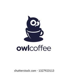 owl coffee logo design