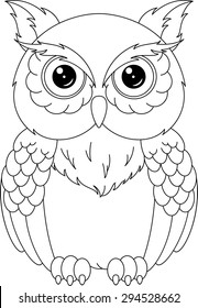 retro owl coloring pages | Owl Colouring Pages Images, Stock Photos & Vectors ...