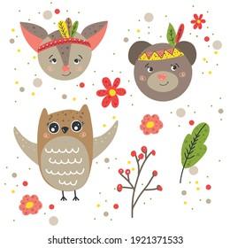 Owl cute illustration for kids