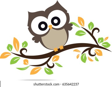 owl cute in vector