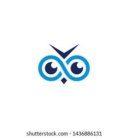 owl eyes icon symbol vector logo design illustration