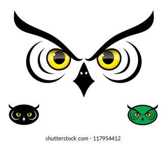 Owl eyes - vector background