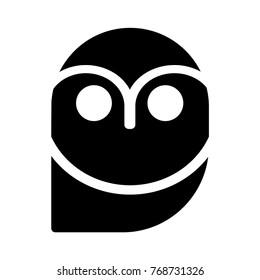 owl glyph icon