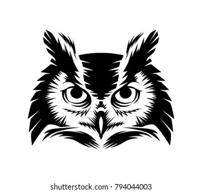 owl head vector file