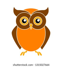 owl icon - owl isolated , wild bird illustration - Vector owl