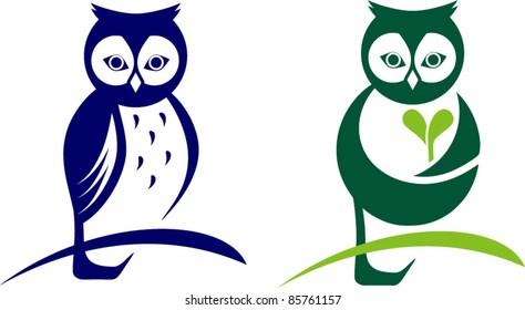 owl icon, logo design