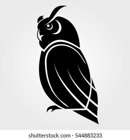 Owl icon on a white background