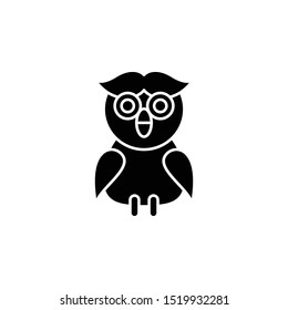Owl icon. Simple glyph, flat vector of autumn icons for ui and ux, website or mobile application