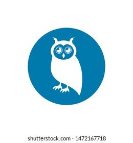 Owl icon. Owl symbol for your web site design, logo, app, UI. Vector illustration, EPS10.