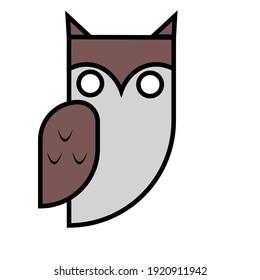 an owl icon vector illustration
