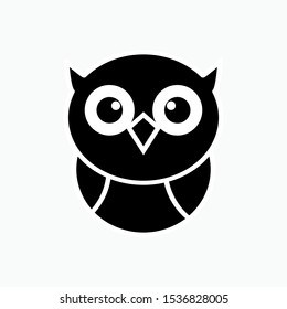 Owl Icon - Vector, Sign and Symbol for Design, Presentation, Website or Apps Elements.
