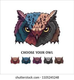 OWL illustrations vector