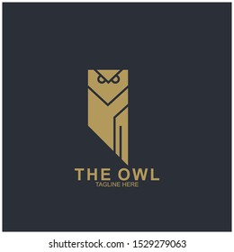 Owl logo design with modern concept. Vector icon owl logo