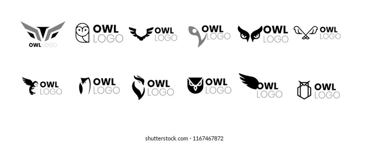 Owl logo and icon concept. Logo available in vector.